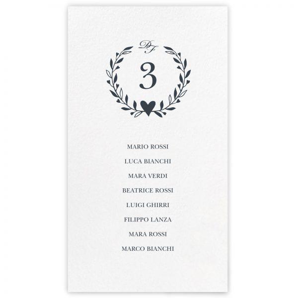 Set cartoncini tableau de mariage Celine