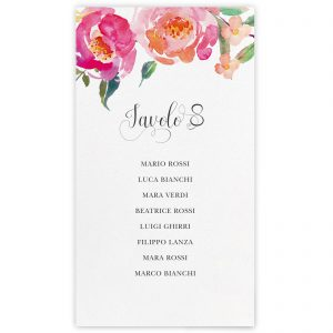 Set cartoncini tableau de mariage Charlotte