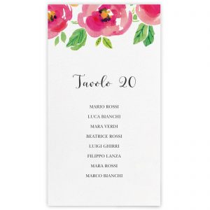 Set cartoncini tableau de mariage Isabel