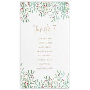 Set cartoncini tableau de mariage Ophelia