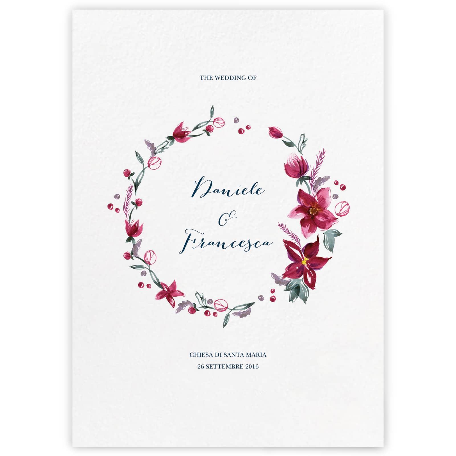 Libretto Messa Lucille My Wedding Paper