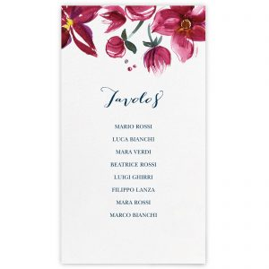 Set cartoncini tableau de mariage Lucille