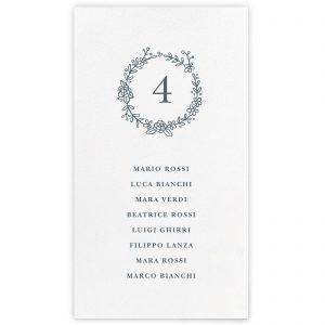 Set cartoncini tableau de mariage Tasha