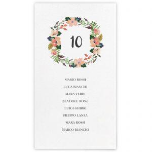 Set cartoncini tableau de mariage Zoe
