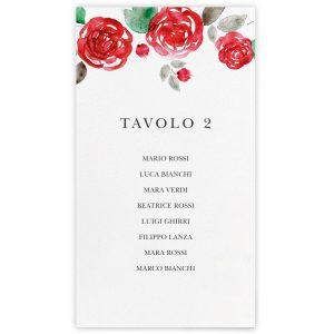 Set cartoncini tableau de mariage Rose