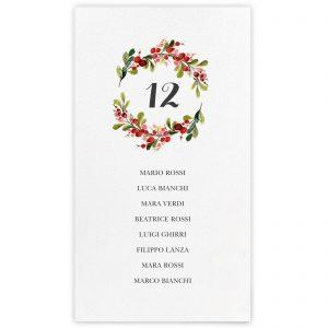 Set cartoncini tableau de mariage Evie