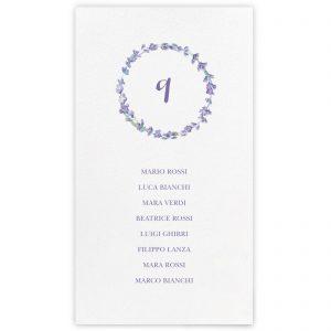 Set cartoncini tableau de mariage Elisabeth