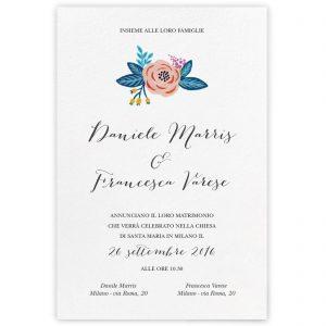 Partecipazione di matrimonio Sophie