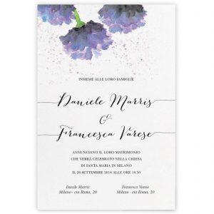 Partecipazione di matrimonio Holly