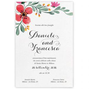 Partecipazione di matrimonio Giselle