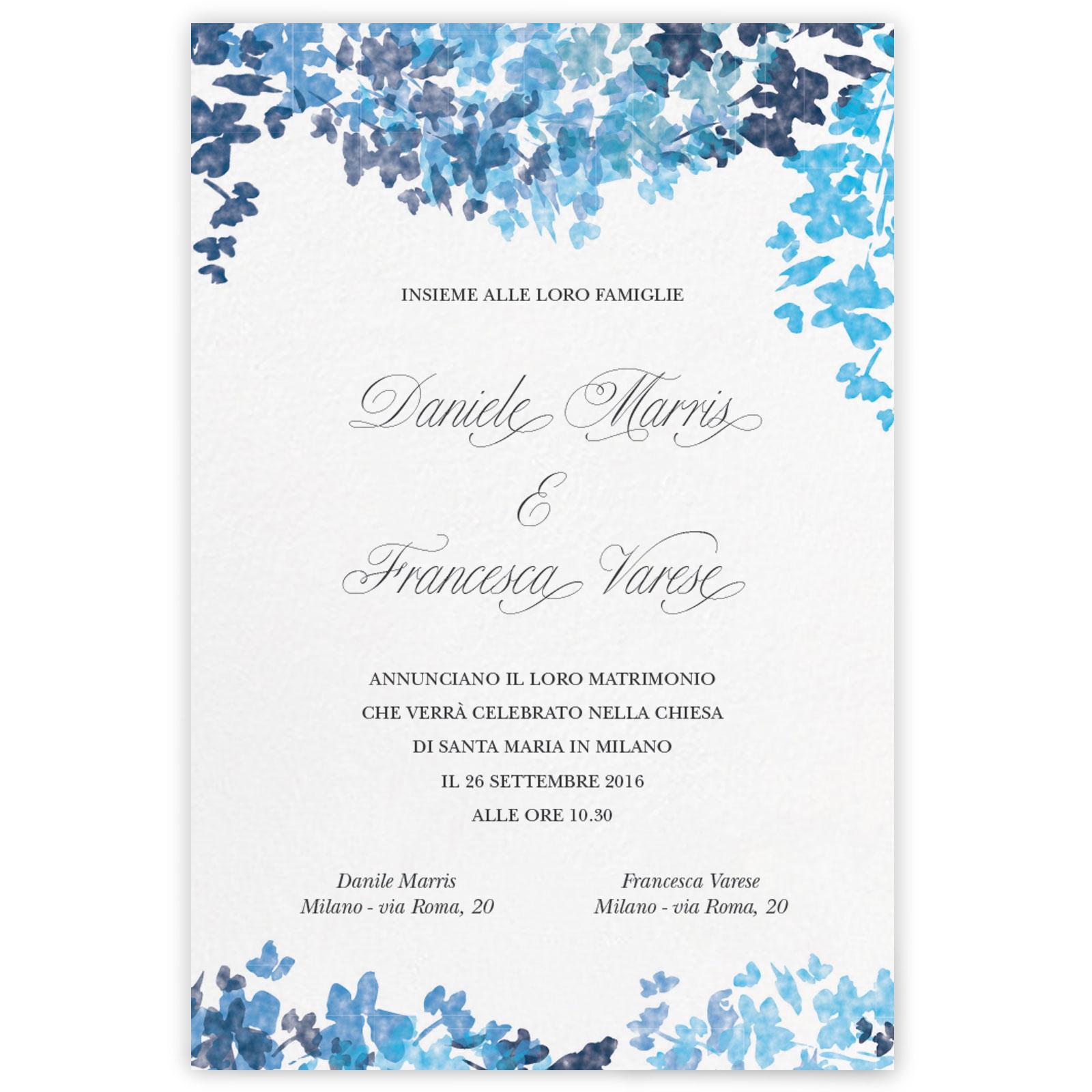 Partecipazioni Matrimonio Varese.Partecipazione Di Matrimonio Dahlia My Wedding Paper