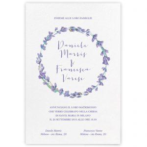 Partecipazione di matrimonio Elisabeth