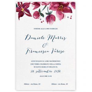 Partecipazione di matrimonio Lucille