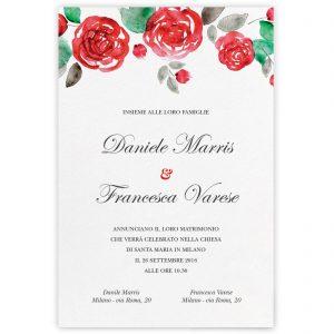 Partecipazione di matrimonio Rose