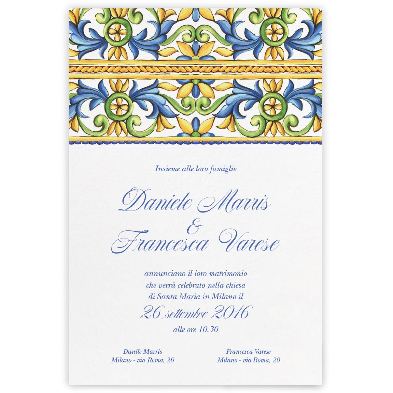Partecipazioni Matrimonio Varese.Partecipazione Di Matrimonio Doreen My Wedding Paper