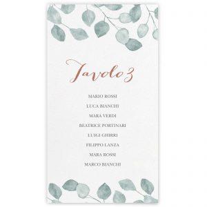 Set cartoncini tableau de mariage Lauren