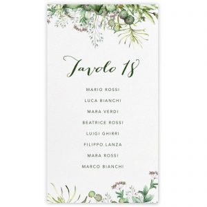 Set cartoncini tableau de mariage Natalie