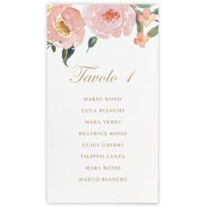 Set cartoncini tableau de mariage Abigail