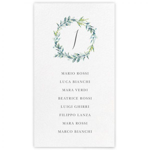 Cartoncino tableau de mariage Audrey