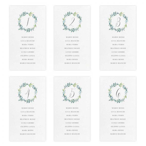 Set cartoncini tableau de mariage Audrey