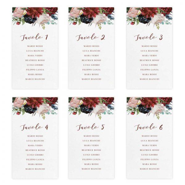 Set cartoncini tableau de mariage Brooke