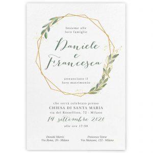 Partecipazione di matrimonio Amanda
