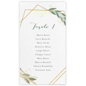 Cartoncino tableau de mariage Amanda 10x18