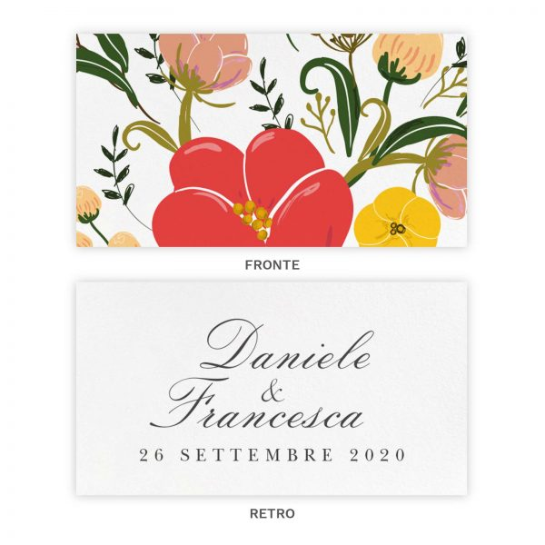 Biglietto bomboniera Anne - Fronte e Retro