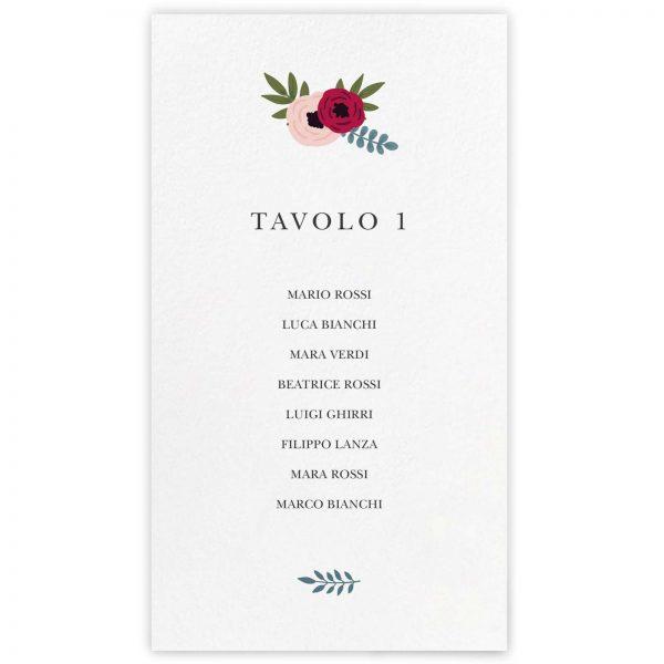 Cartoncino tableau de mariage Sarah 10x18