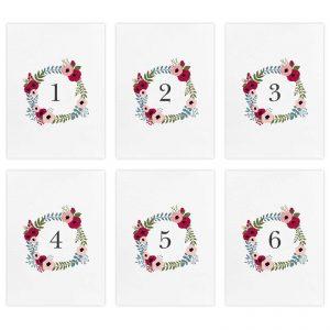 Set segnatavolo Sarah - Numeri da 1 a 6