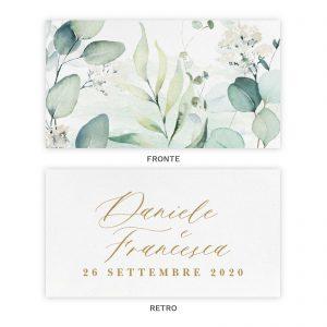Biglietto bomboniera Chloe - Fronte e Retro