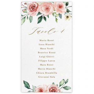 Cartoncino tableau de mariage Emma 10x18